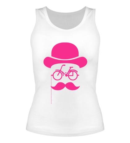 Женская майка Велосипедный хипстер