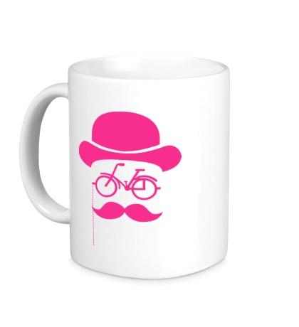 Керамическая кружка Велосипедный хипстер