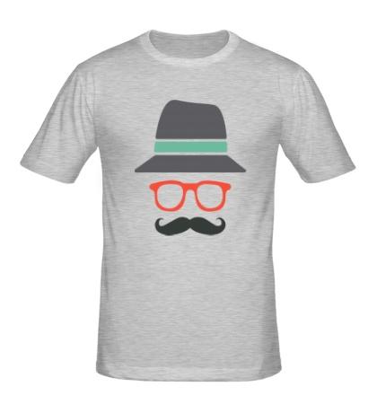 Мужская футболка Хипстер в шляпе