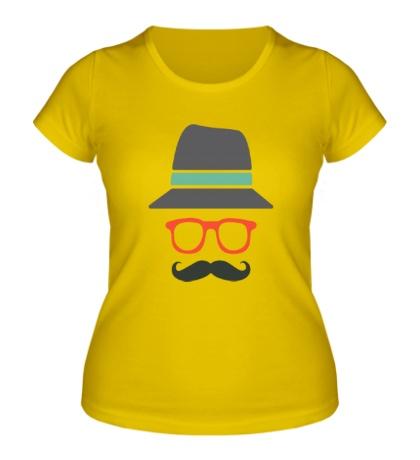 Женская футболка Хипстер в шляпе