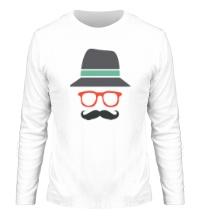 Мужской лонгслив Хипстер в шляпе