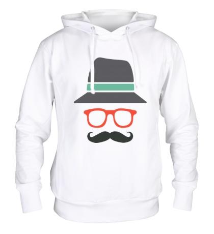 Толстовка с капюшоном Хипстер в шляпе