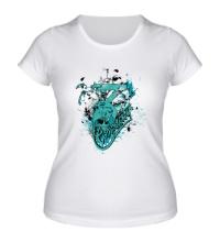 Женская футболка Череп Comlicity