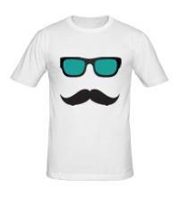 Мужская футболка Усы в очках