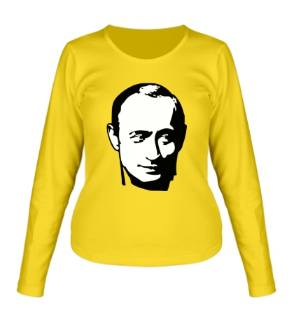 Женский лонгслив «Владимир Путин»