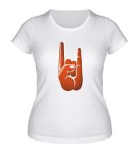 Женская футболка Рок коза