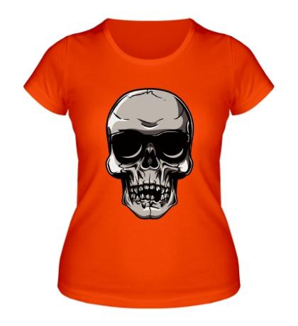 Женская футболка Череп рокера