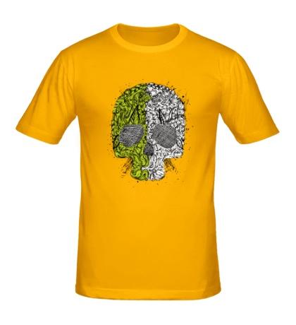 Мужская футболка «Абстрактный череп»