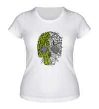 Женская футболка Абстрактный череп