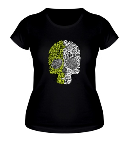 Женская футболка «Абстрактный череп»