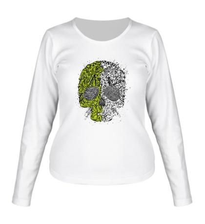Женский лонгслив «Абстрактный череп»