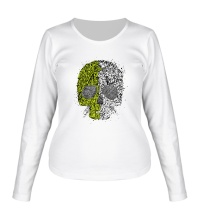 Женский лонгслив Абстрактный череп