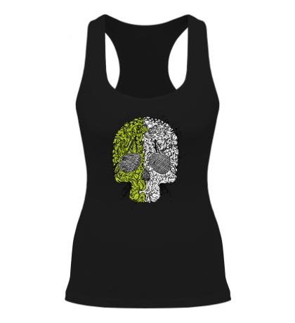 Женская борцовка «Абстрактный череп»