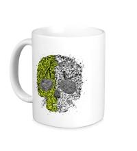 Керамическая кружка Абстрактный череп