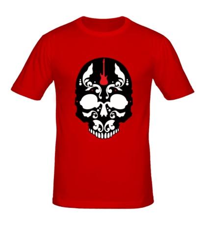 Мужская футболка Череп металиста