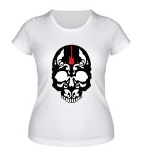 Женская футболка Череп металиста