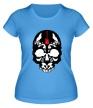 Женская футболка «Череп металиста» - Фото 1