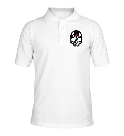 Рубашка поло «Череп металиста»