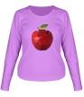 Женский лонгслив «Абстрактное яблоко» - Фото 1