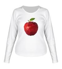 Женский лонгслив Абстрактное яблоко