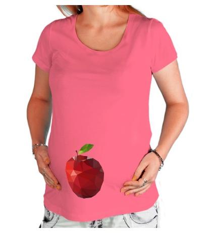 Футболка для беременной Абстрактное яблоко