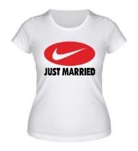 Женская футболка Just do Married