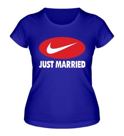 Женская футболка «Just do Married»