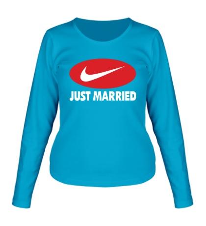 Женский лонгслив Just do Married