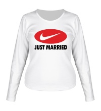 Женский лонгслив Just do Married