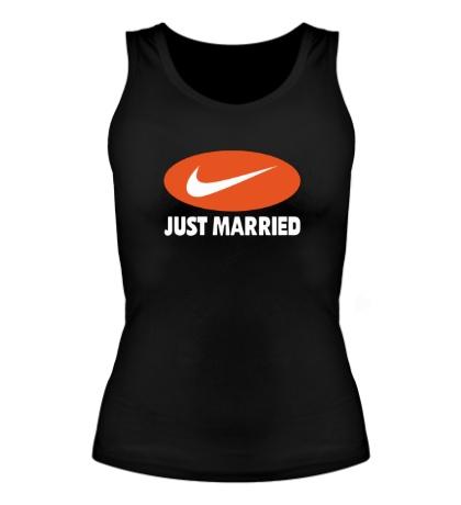 Женская майка Just do Married