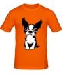 Мужская футболка «Грустный пес» - Фото 1