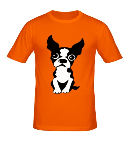 Мужская футболка Грустный пес
