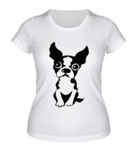 Женская футболка Грустный пес
