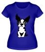 Женская футболка «Грустный пес» - Фото 1