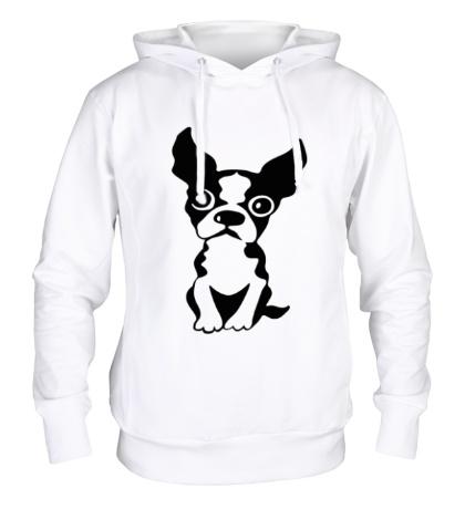 Толстовка с капюшоном «Грустный пес»