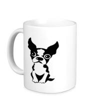 Керамическая кружка Грустный пес