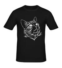 Мужская футболка Силуэт кота
