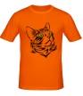 Мужская футболка «Силуэт кота» - Фото 1