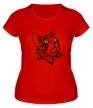 Женская футболка «Силуэт кота» - Фото 1