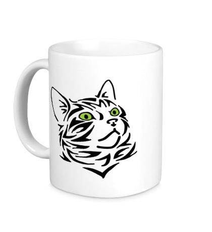 Керамическая кружка Силуэт кота