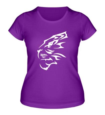 Женская футболка Бегущий тигр