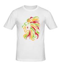 Мужская футболка Огненный лев