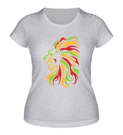 Женская футболка Огненный лев