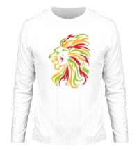 Мужской лонгслив Огненный лев