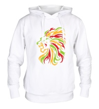 Толстовка с капюшоном Огненный лев