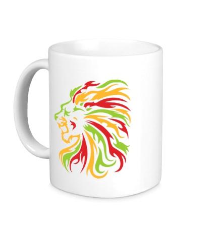 Керамическая кружка Огненный лев