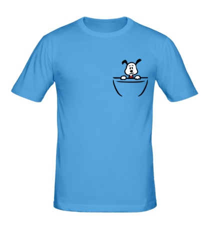 Мужская футболка Собачка в кармане