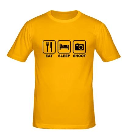 Мужская футболка Eat Sleep Shoot