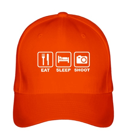 Бейсболка Eat Sleep Shoot
