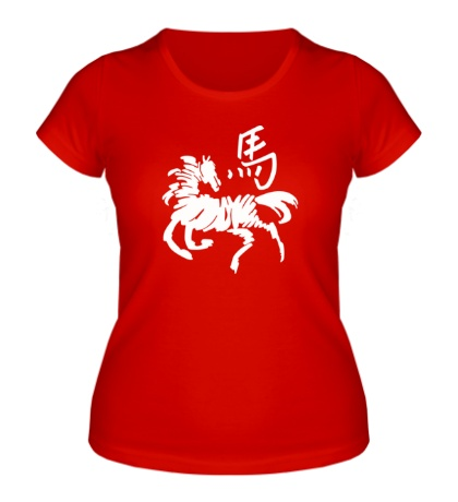 Женская футболка Символ лошади